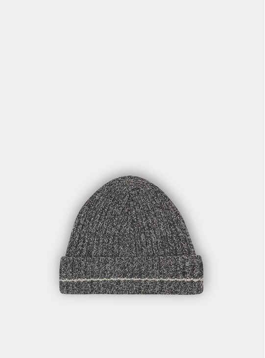 Charcoal Recycled Cashmere Beanie