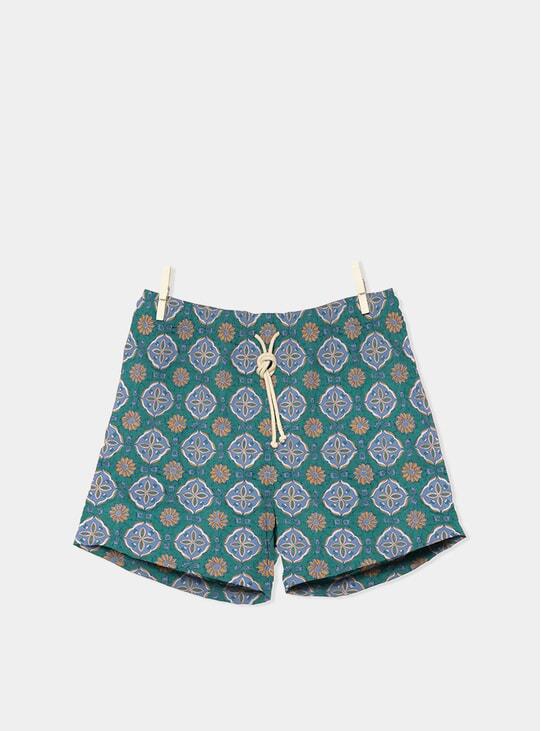 Verde Maestrale Celeste / Verde Swim Shorts