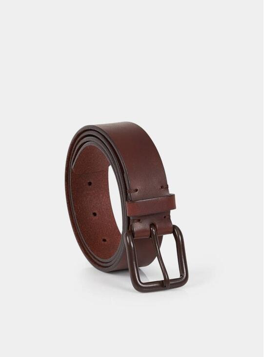 Russett Brown / Brown Modernist Belt