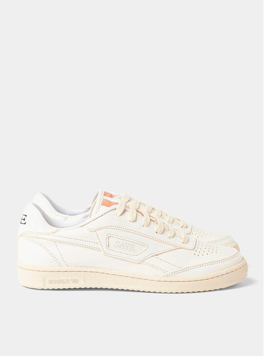 White '89 Modelo Sneakers