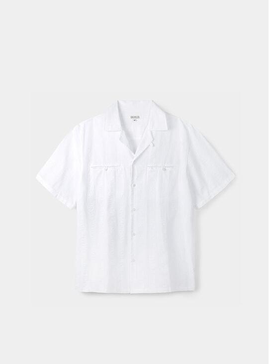 White Maui Camp Collar Shirt