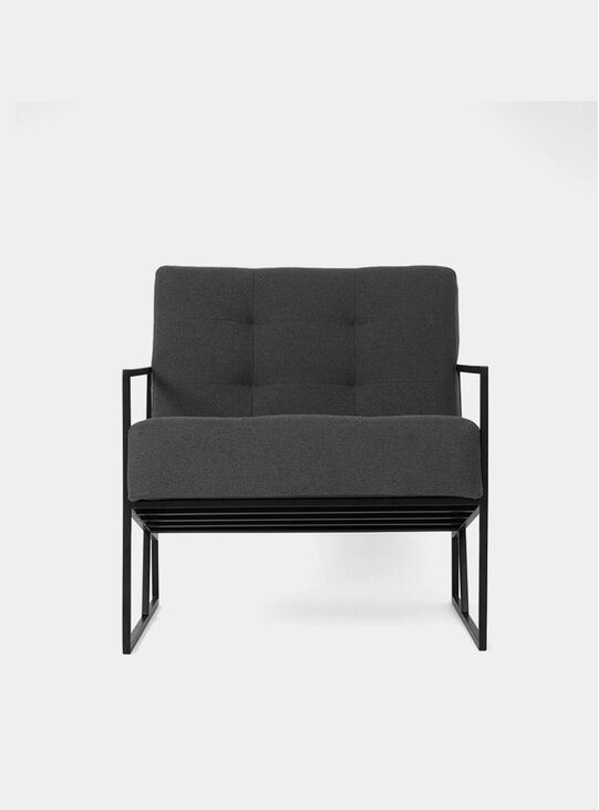 Auzera Charcoal / Black Steel Armchair