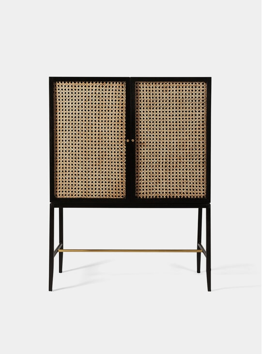Raphia Chicory / Brass Cabinet