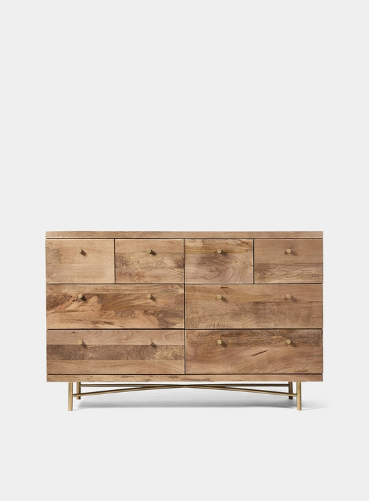 Halle Mango Wood / Brass Chest of Drawers