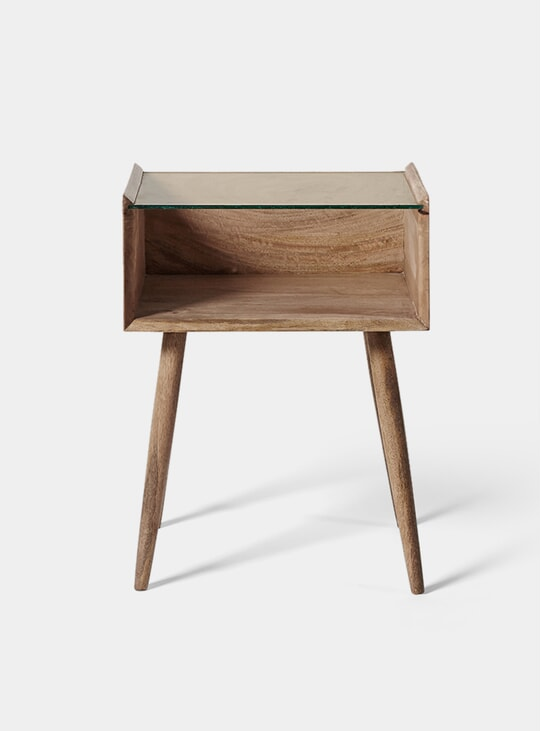 Genoa Mango Wood Bedside Table