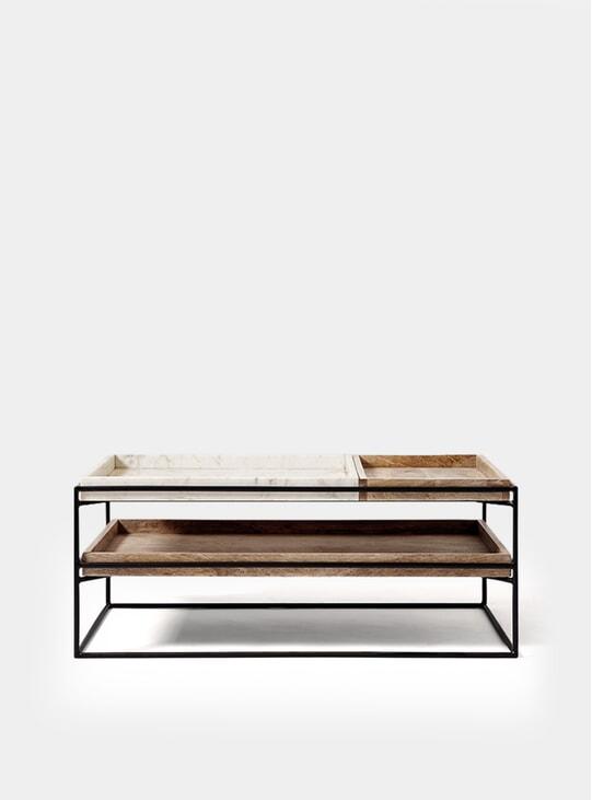 Hansel Marble / Black Coffee Table