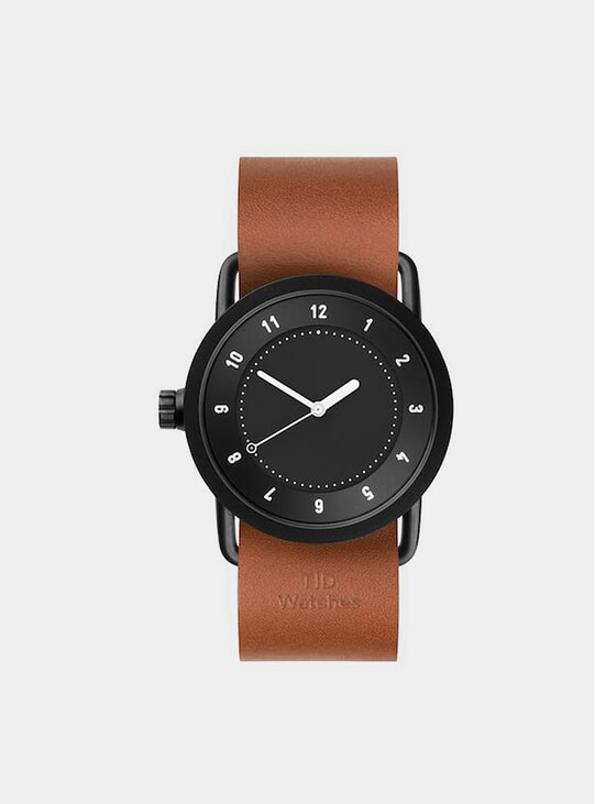 Black / Tan Leather No.1 36mm Watch
