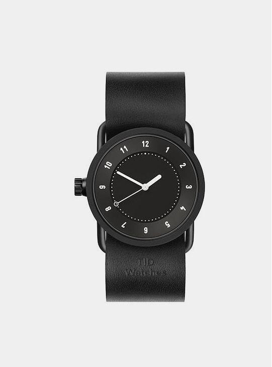 Black Watch / Black Leather No.1 36mm Watch