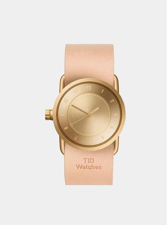 Gold / Natural Leather No.1 33m Watch
