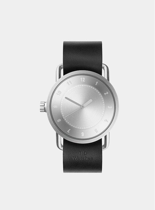 Steel / Black Leather No.1 40mm Watch