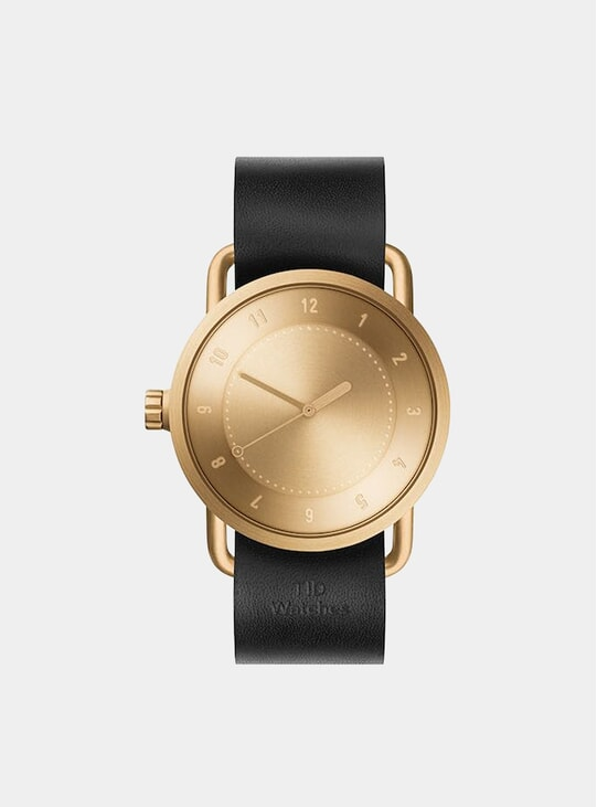 Gold / Black Leather No.1 40mm Watch