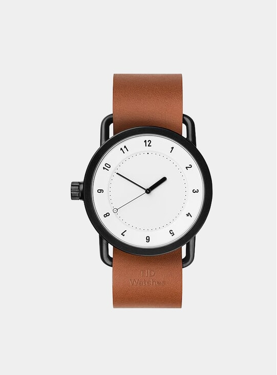 White / Tan Leather No.1 40mm Watch