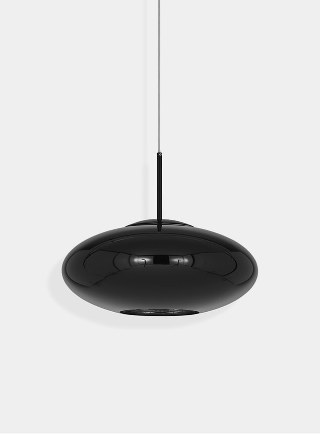 Black Copper Wide Pendant Lamp