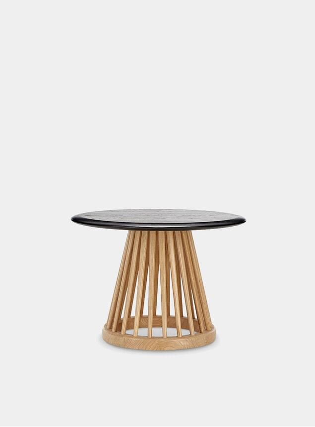 Black Oak / Natural Fan Table