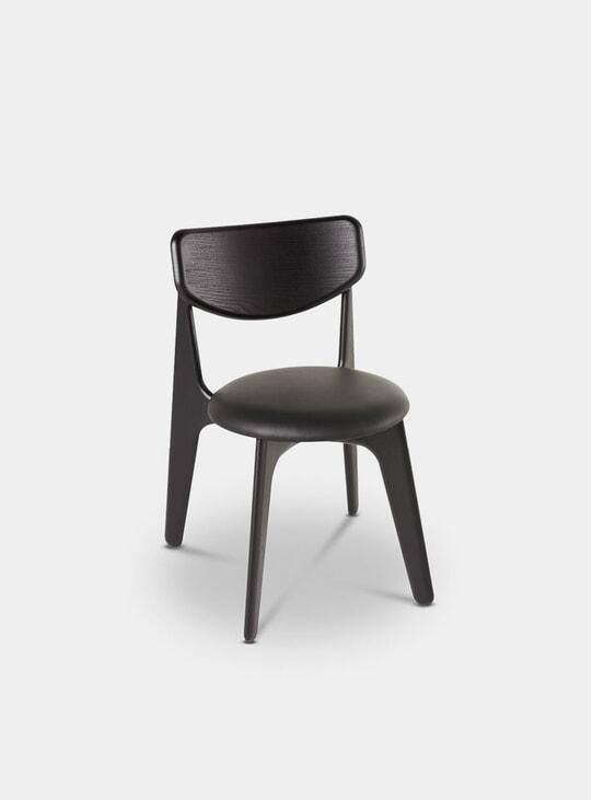 Black Upholstered Slab Chair