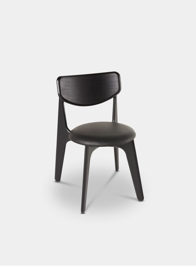 Black Upholstered Slab Chair