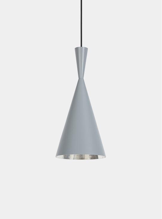 Grey Tall Beat Pendant Lamp