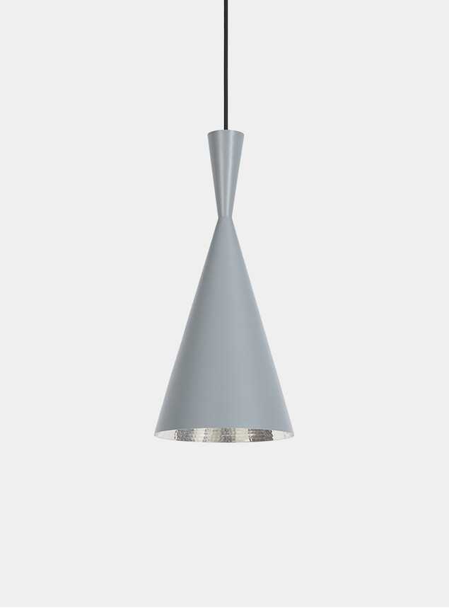 Grey Tall Beat Pendant Lamp