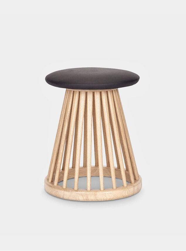 Natural Fan Stool