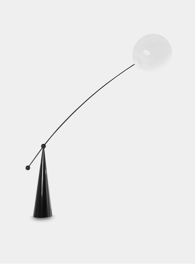 Opal Arc Floor Lamp