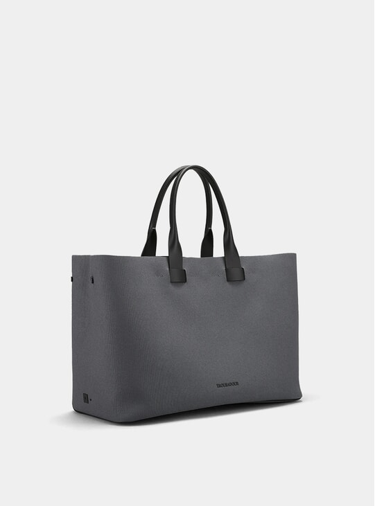 Grey Canvas Adventure Troubadour Tote