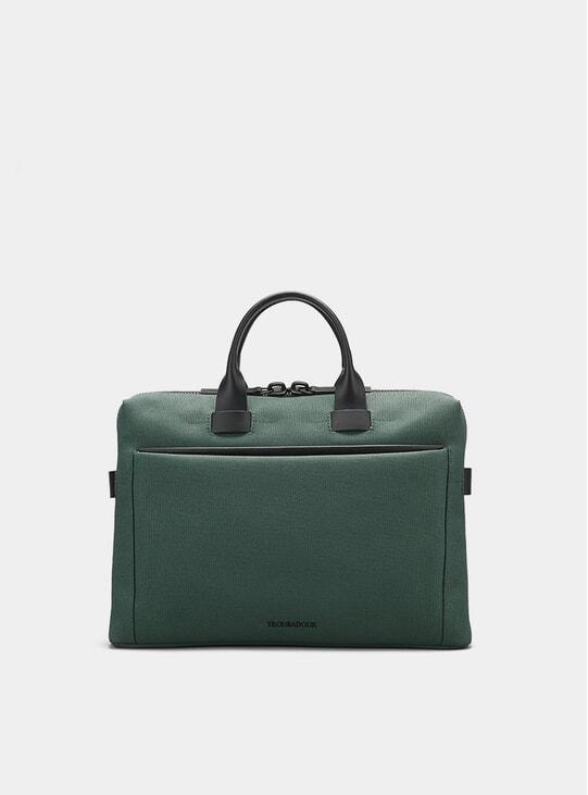 Modern Khaki Canvas Adventure Pathfinder Slim Briefcase