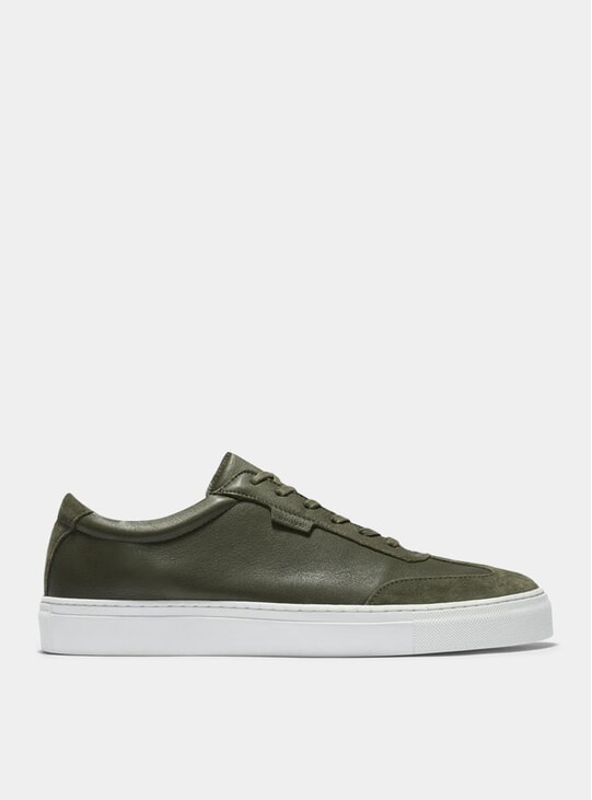 Army Tumbled Leather / Suede Series 3 Sneakers