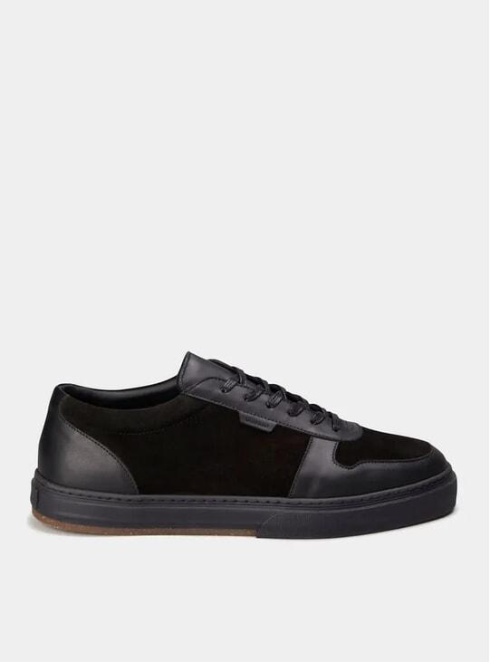 Black Leather Series 6 Sneakers