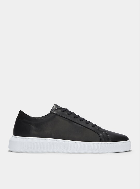 Double Black Leather Series 8 Sneakers