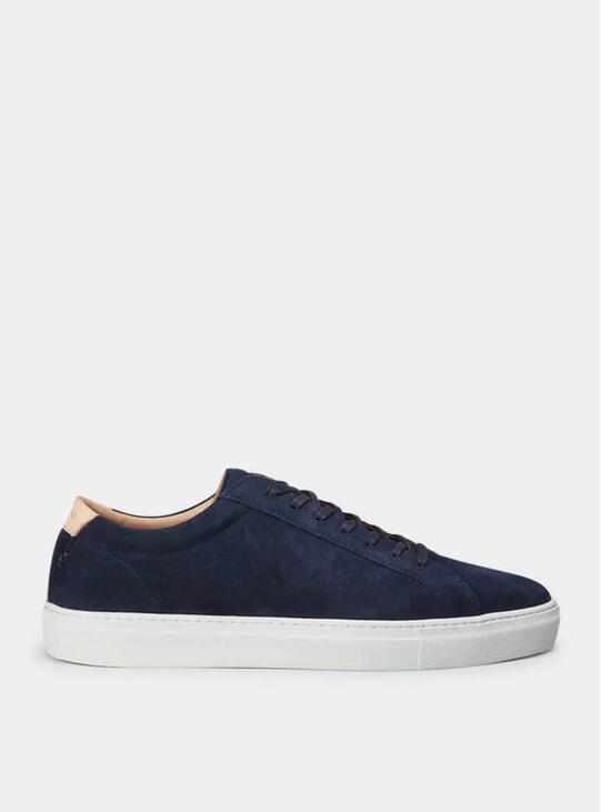Navy Suede Series 1 Sneakers