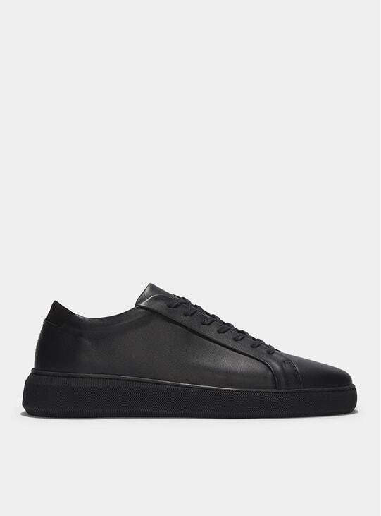 Triple Black Leather 8 Series Sneakers
