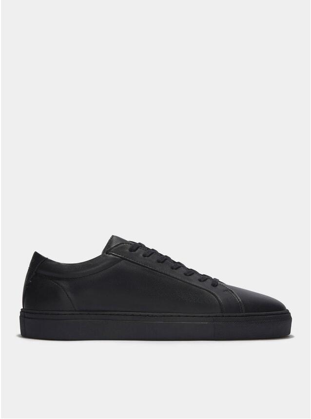 Triple Black Leather Series 1 Sneakers