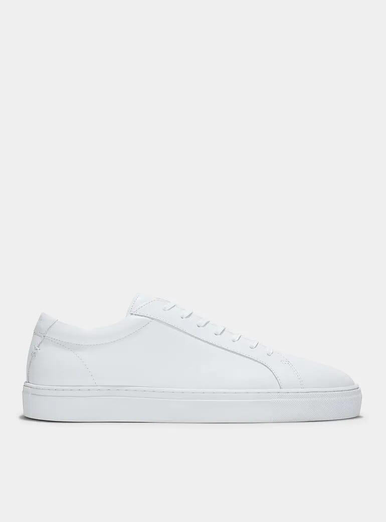 mens designer white trainers