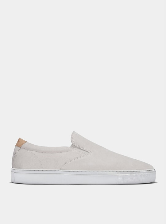 White Suede Series 2 Slip-On Sneakers
