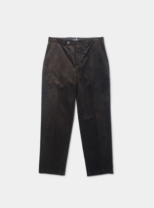 Black Corduroy Weave Volume Trousers