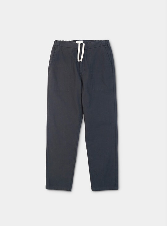 Blue Asphalt Cotton Twill Vision Trousers