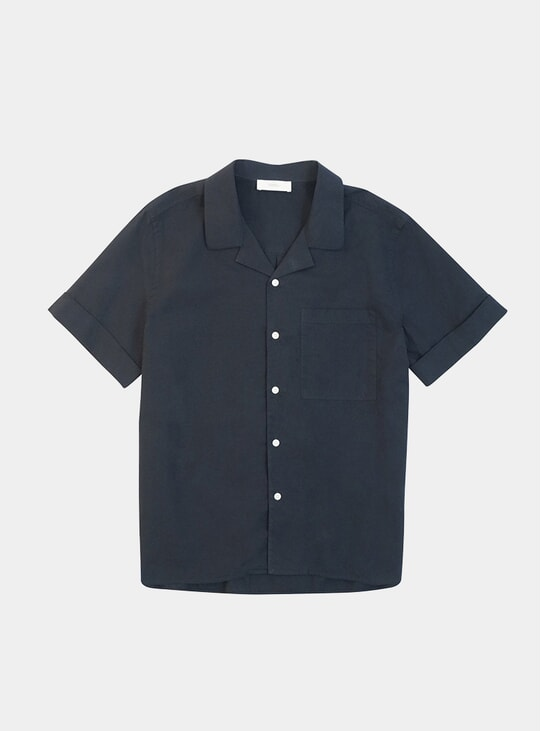 Navy Fine Oxford Riviera Shirt