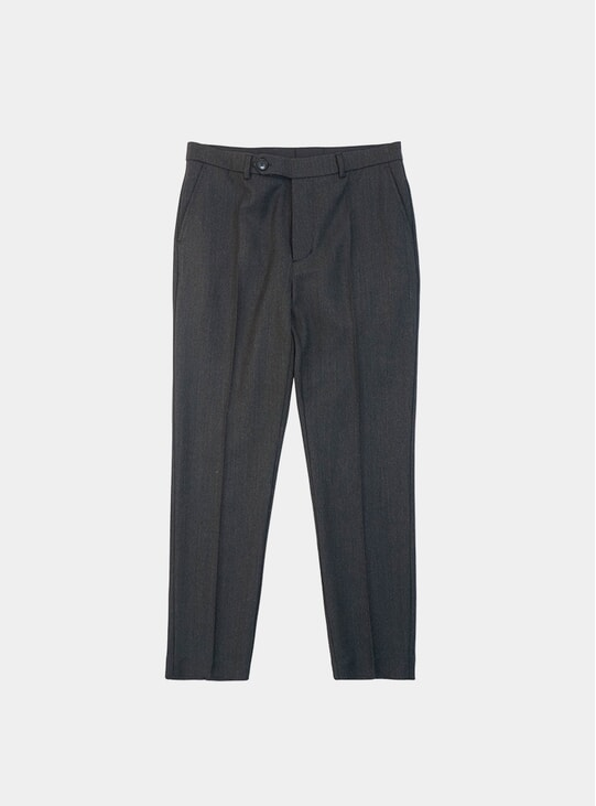 Wool Textured Twill Shadow Trousers