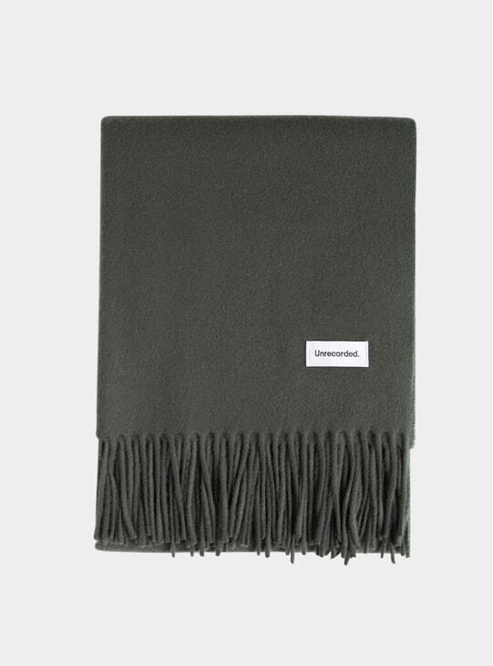 Green Wool Scarf