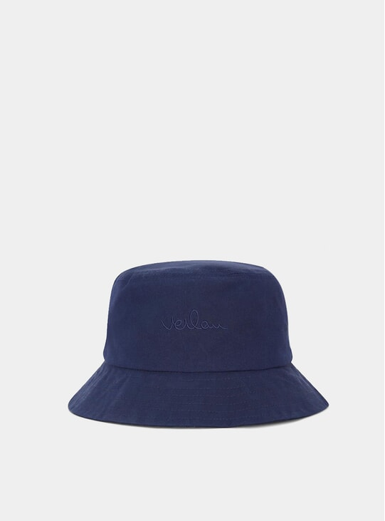 Navy  Logo Bucket Hat