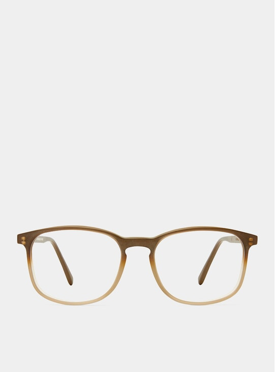 Ash Brown Matt Polished Glasses