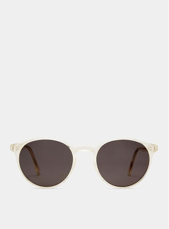 Pale Yellow Shiny Contemporay Sunglasses