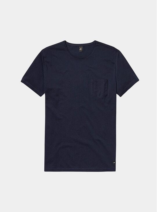 Navy Blue Pique Dean T Shirt