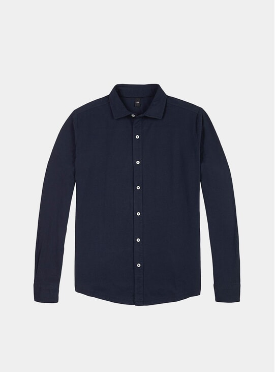Navy Tailored Jersey Barton Shirt