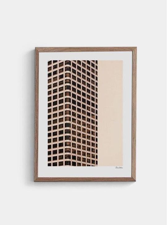 Monochromatic Grid Print