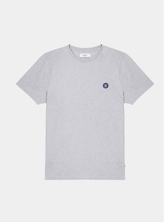 Grey Melange Redi Badge T Shirt