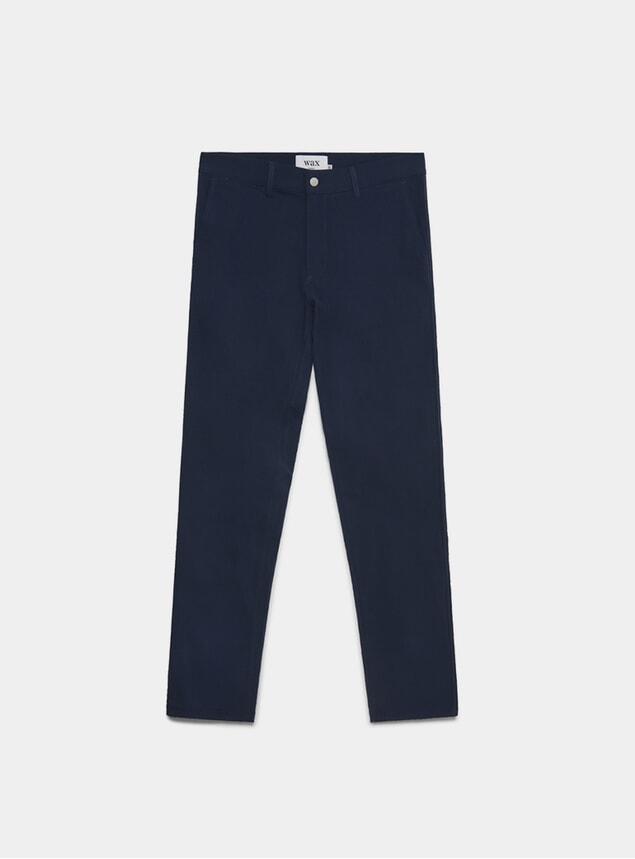 Navy Horizontal Seersucker Strood Trousers