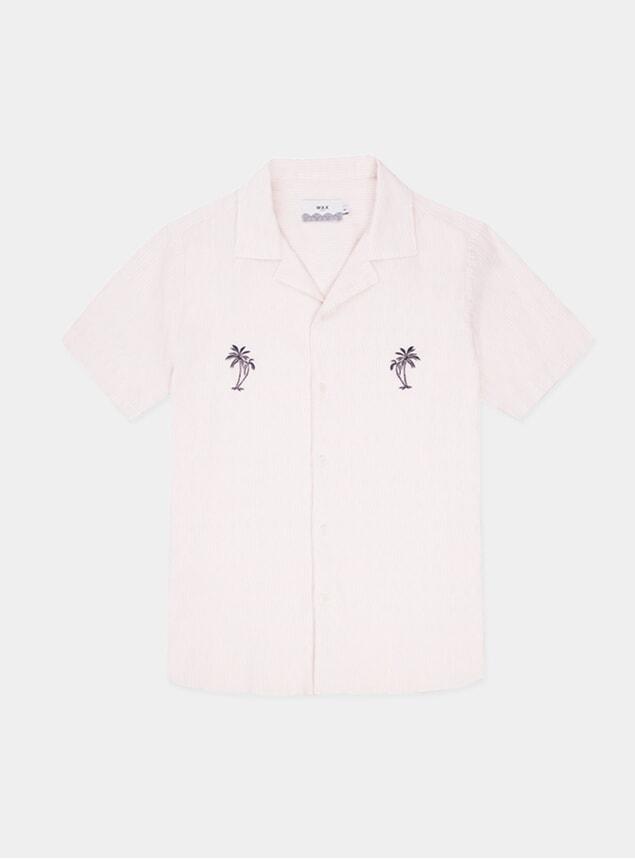 Navy Palm Didcot Short Sleeve Shirt