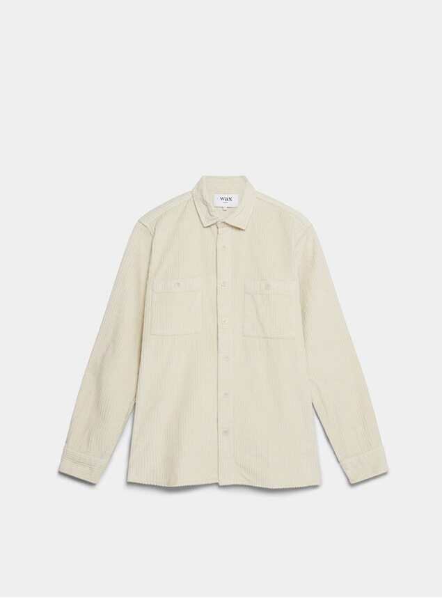 Oyster Grey Big Cord Whiting Shirt