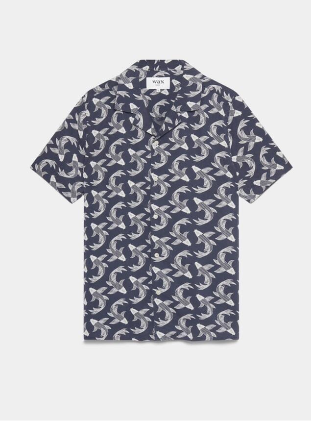Pisces Print Didcot Short Sleeve Shirt
